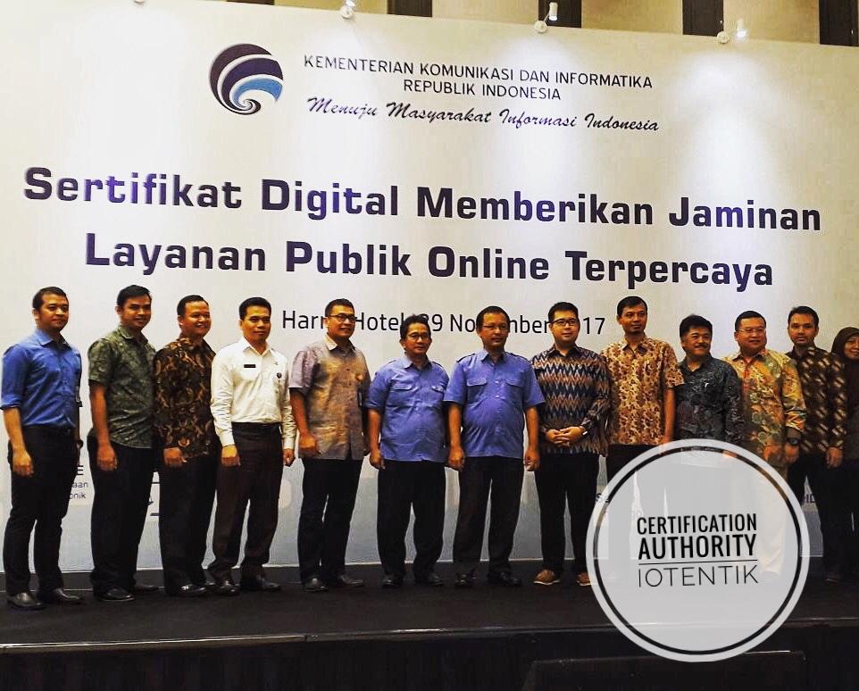 iOtentik Ikut Serta Dalam Seminar dan Pameran Sertifikat Digital Memberikan Jaminan Layanan Publik Online Terpercaya